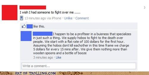 bums facebook fight hobos - 4953657088
