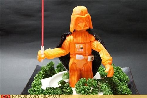art carrot carving darth vader sculpture star wars - 4953701632