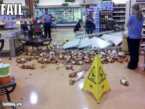 crash failboat g rated grocery store messy