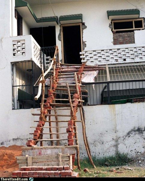 bricks ladder stairs