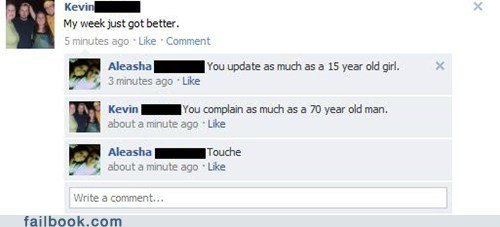 comebacks,15 year old girl,70 year old man,touché