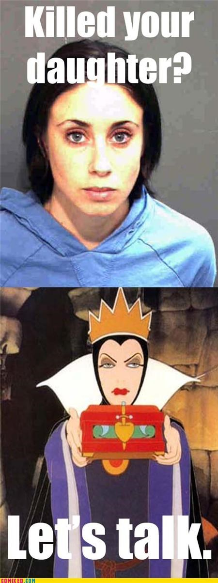 Casey Anthony evil queen snow white the internets