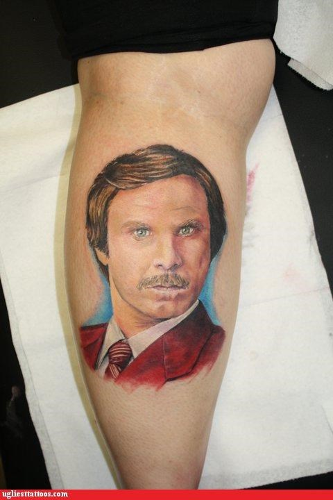 anchorman g rated Hall of Fame movie tattoo Ugliest Tattoos Will Ferrel