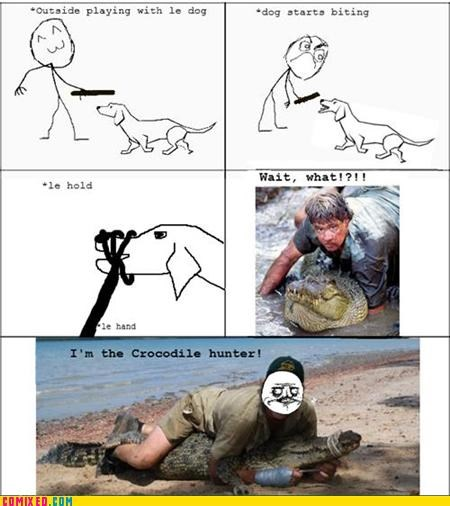 crocodile hunter dogs Rage Comics steve irwin - 4956040704