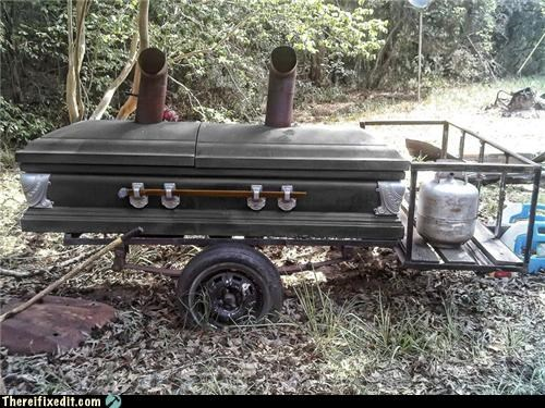 barbecue,casket,dual use,wtf