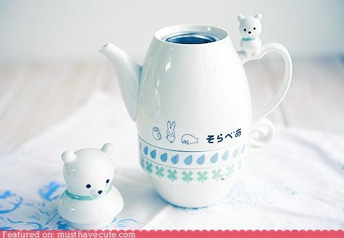 bear cup pot tea teapot - 4956419840