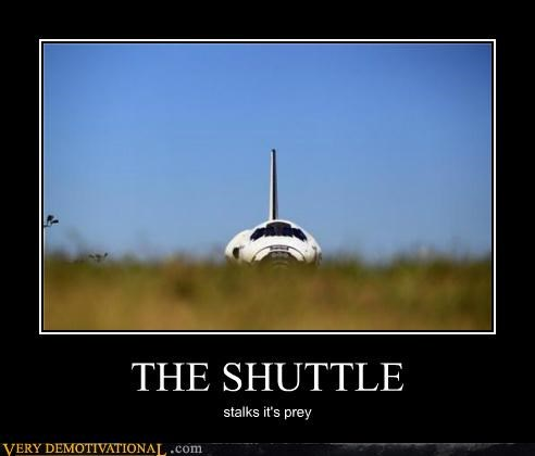 THE SHUTTLE stalks it's prey