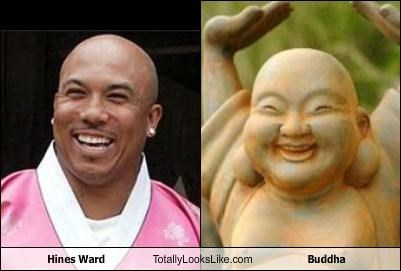 buddah football player happy hines ward smiling