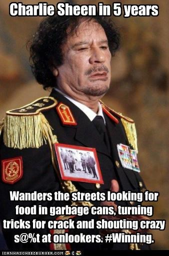 Charlie Sheen,moammar gadhafi,political pictures