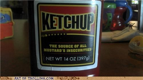 condiments insecurity IRL ketchup mustard - 4956792064
