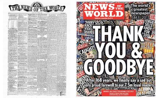 End Of An Era,News of the World,Phone Hacking Affair