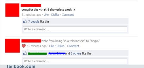 single relationship status shower no shower smelly showering