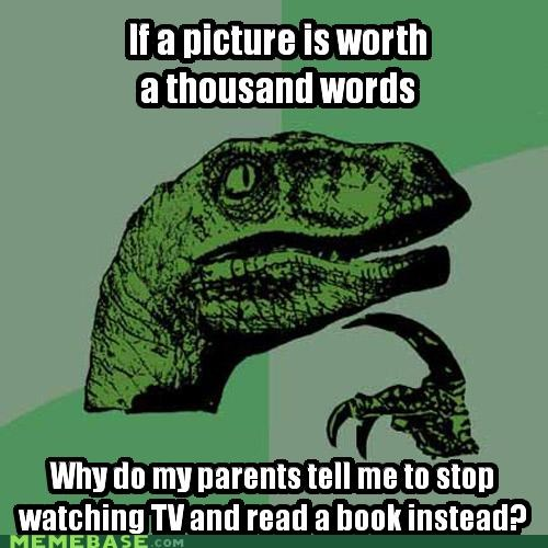books learning parents philosoraptor pictures reading words - 4957330688