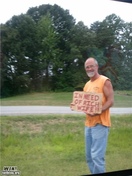 homeless signs sign wife - 4957619200