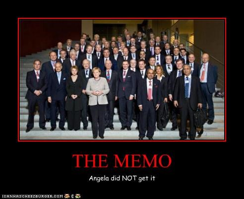 THE MEMO Angela did NOT get it