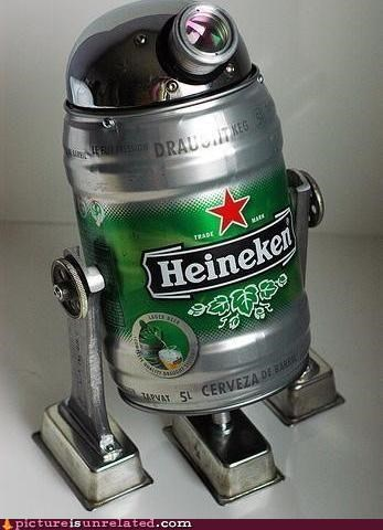 beer Heineken r2-d2 star wars wtf - 4958389504