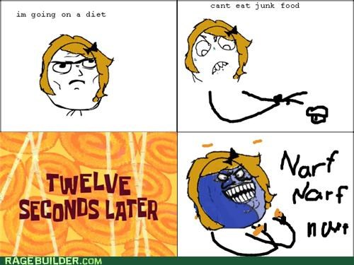 diet,i lied,junk food,Rage Comics