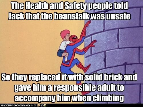 beanstalk,jack,safety first,Spider-Man,Super-Lols