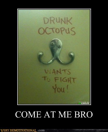 bro coat hanger fight hilarious octopus wtf - 4959903488