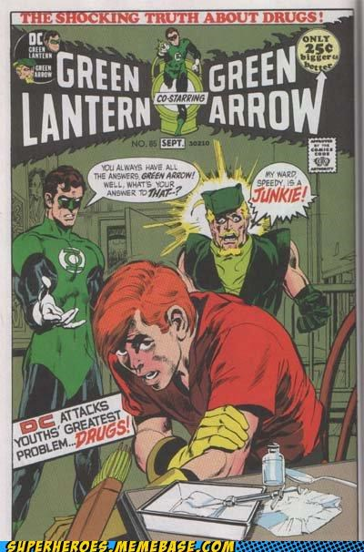 green arrow green lantern drugs speedy Straight off the Page - 4960591616