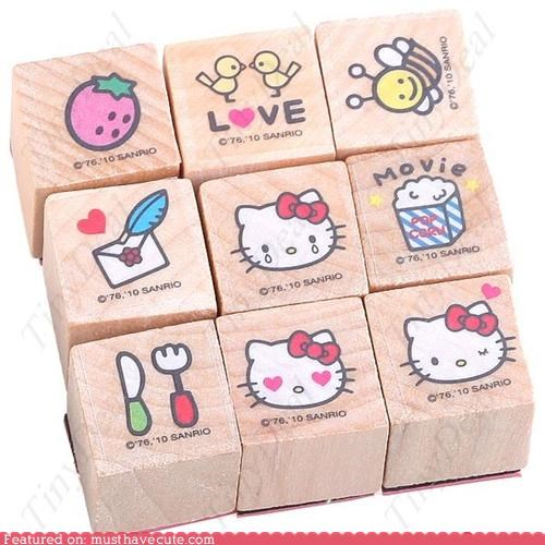 decorate hello kitty rubber stamps stamps - 4960599296