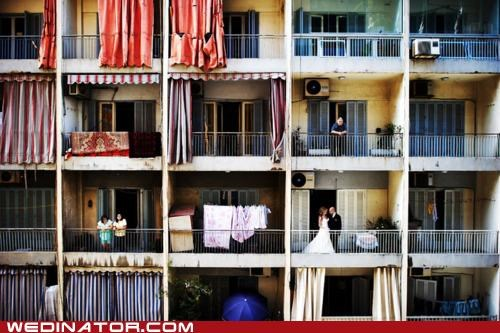 apartment bride funny wedding photos groom newlyweds - 4960623104