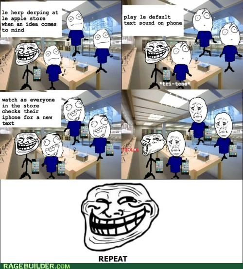 apple store iphone Rage Comics troll - 4960785664
