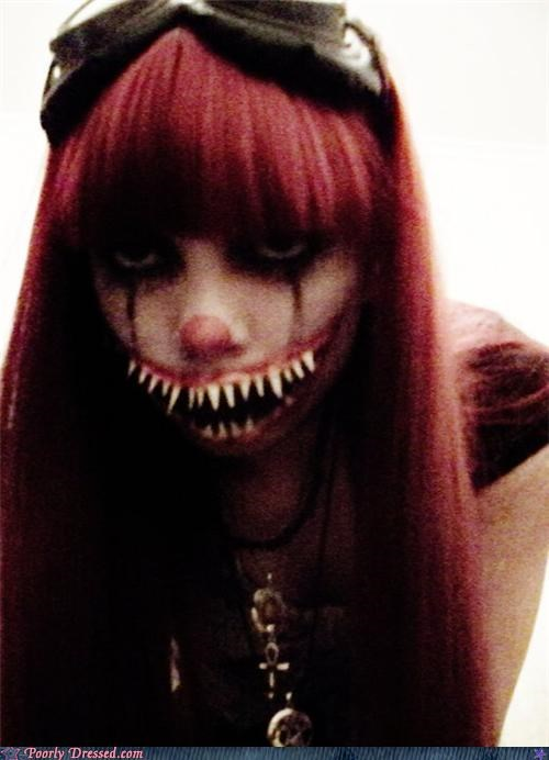 goth,monster,scene,teeth