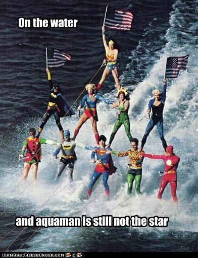 aquaman,batgirl,batman,Black Canary,flash,Helpful Heroes,justice league,robin,super girl,Super-Lols,superman,wonder woman