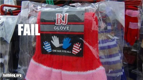 Gloves FAIL I didn't know you need gloves for that