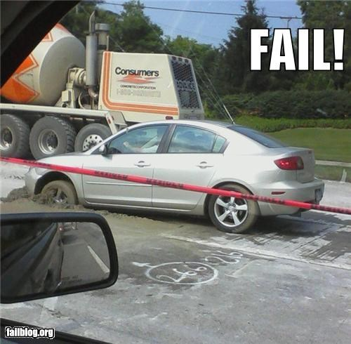 bad idea,cement,driving,failboat,g rated
