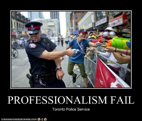 PROFESSIONALISM FAIL Toronto Police Service