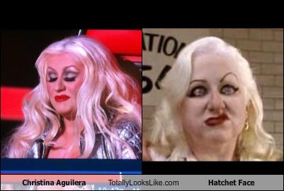 Christina Aguilera Totally Looks Like Hatchet Face
