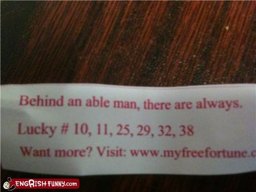 fortune cookie,lucky numbers,vague