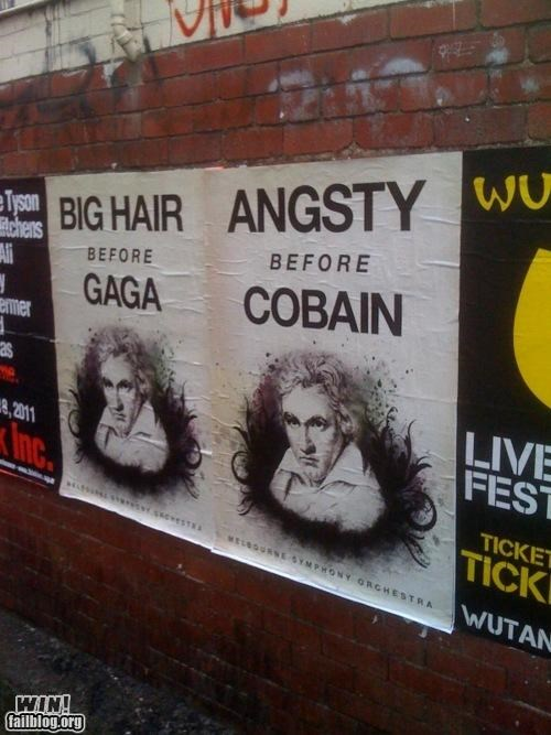 clever kurt cobain lady gaga Music oh australia posters - 4962310656