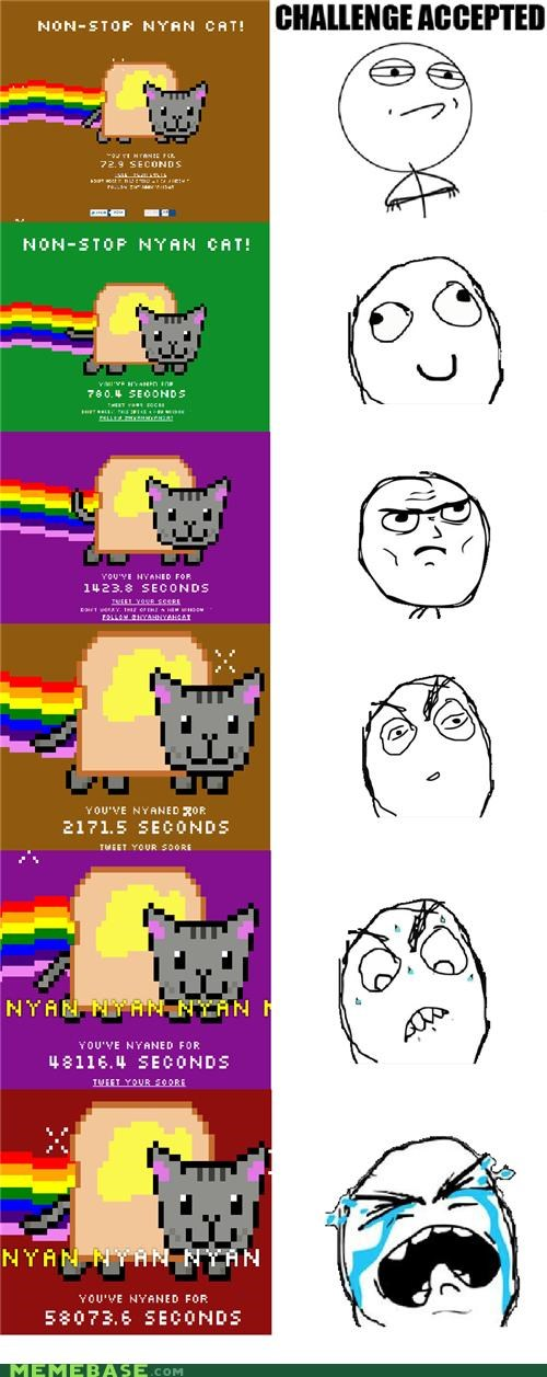 Challenge Accepted,nyan,Nyan Cat,progression,Rage Comics,time