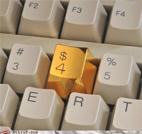 gold gold tooth keyboard mike tyson office swag - 4962463488
