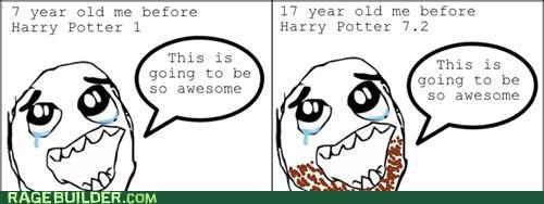 growing up,Harry Potter,Rage Comics,Sad
