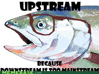 animemes disney fish hipster-disney-friends mainstream salmon - 4962613248