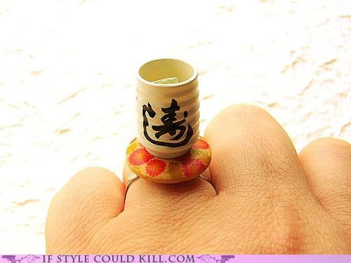 cool accessories Japan ring of the day rings tea - 4962650880