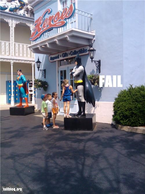 batman failboat inappropriate touching statues superheroes - 4962665984