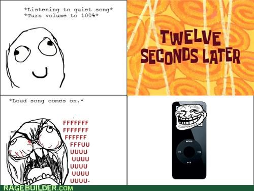 ipod,Rage Comics,Songs,volume