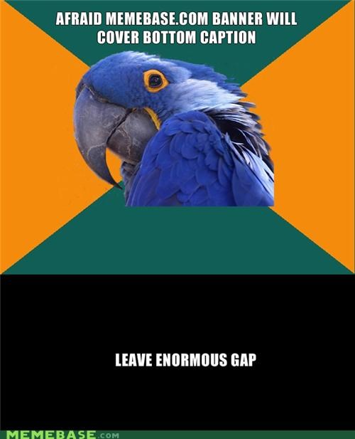 banner caption gap memebase meta Paranoid Parrot watermark - 4962760448