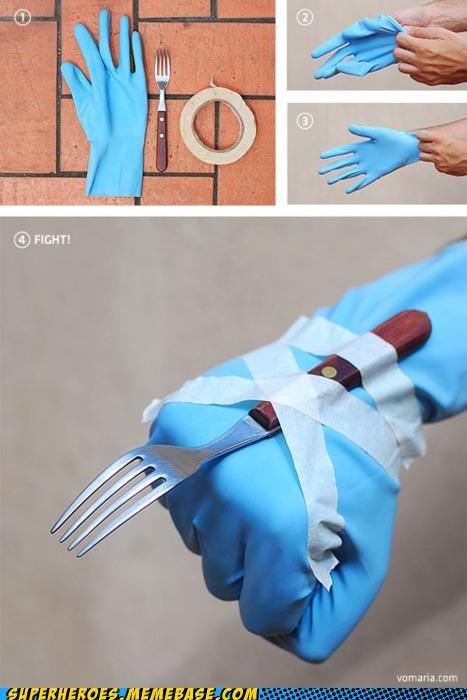 claws fork glove instructions Random Heroics wolverine - 4962810368