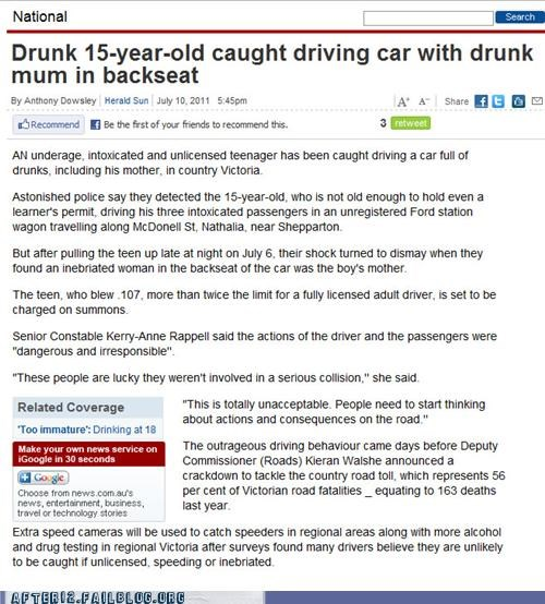 drunk driving,news,parenting,underage