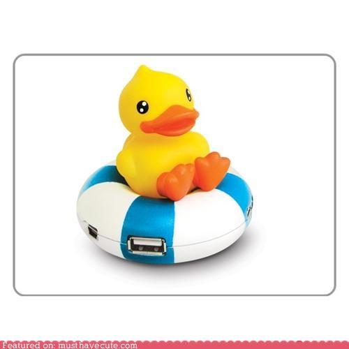 duckie float innertube plastic usb hub