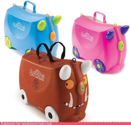 luggage plastic trunki wheels