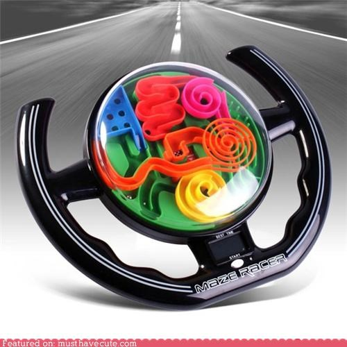 ball,car,maze,steering wheel,toy