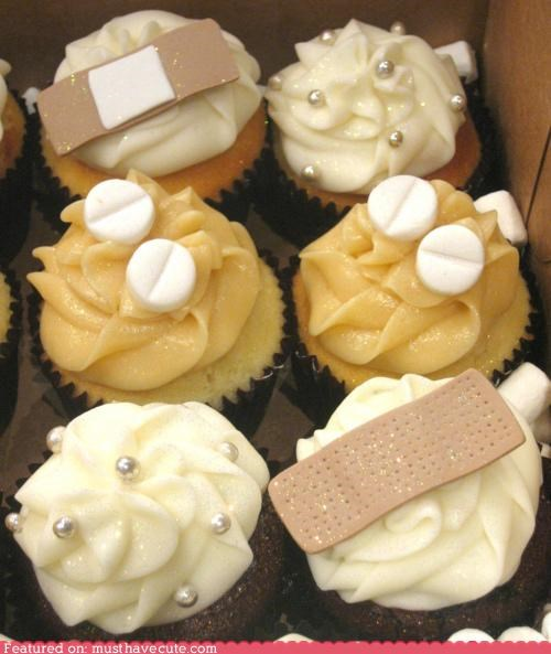 bandages cupcakes cure epicute medicine pills - 4962923008