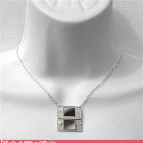 chain ds Jewelry necklace nintendo pendant - 4962976256